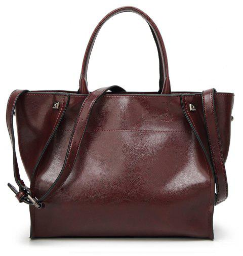 Fashion Simple Tote Baodan Diagonal Casual Handbags Large-Capacity Female Bag - COFFEE