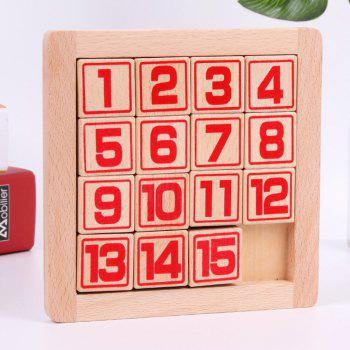Digital Huarong Road Children Brain Development and Adult Classical Puzzle  Game Toys - RED