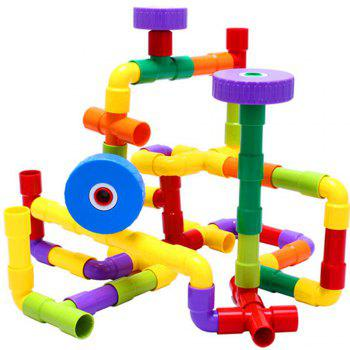 156 Capsules of Plastic Pipe Inserting Blocks Assembled Early Childhood Educational Toys - multicolor