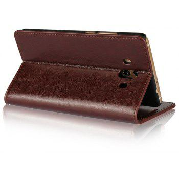 For Huawei Mate 10 Case Full Grain Genuine Leather Phone Case With Kickstand Function Credit Card Slots Magnetic Handm - PUCE