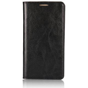 For Huawei Mate 10 Case Full Grain Genuine Leather Phone Case With Kickstand Function Credit Card Slots Magnetic Handm - BLACK