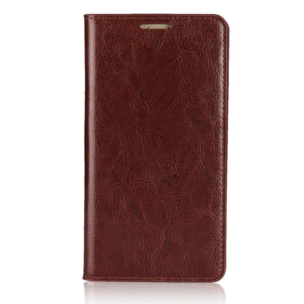 For Huawei P8Lite 2017 Case Full Grain Genuine Leather With Kickstand Function Credit Card Slots Magnetic Handmade Flip - PUCE