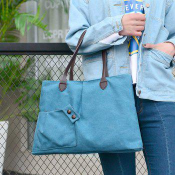 Women Casual Canvas Tote Handbag Large-capacity Shoulder Bag for Girls - GLACIAL BLUE ICE