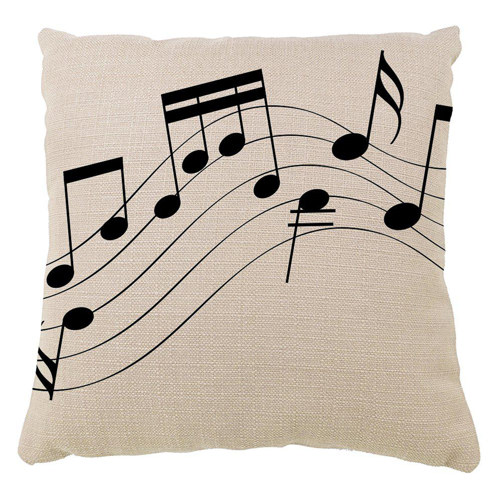 Hand Painted Music Hold Pillow Case Sofa Cushion Cover - multicolor 16INCH X16INCH