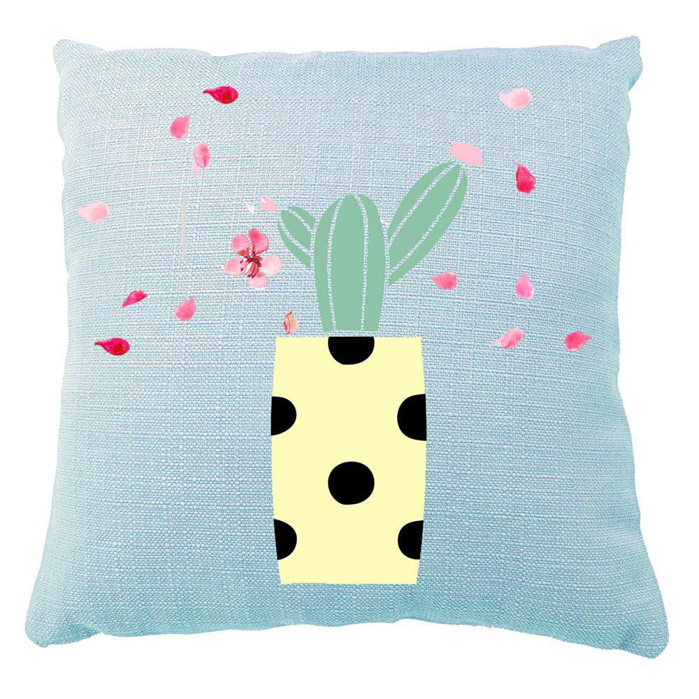 Cartoon Hand Painted Petal Cactus Home Adornment Cushion Cover - multicolor 16INCH X16INCH