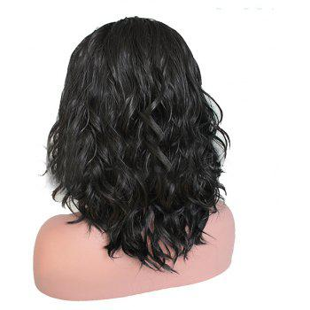 Black Short Hair Chemical Fiber Front Lace Wig - BLACK 16INCH