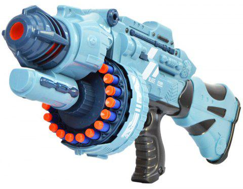 20 Repeating Machine Gun Plastic Airsoft Pistol Soft Bullet Boys Toy Outdoor CS Battle Game Gift Kids Toy - LIGHT BLUE