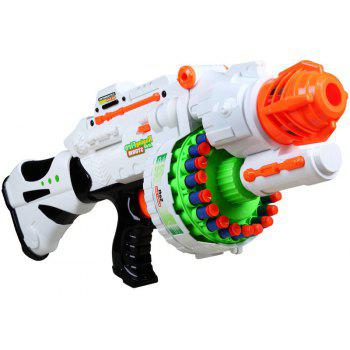 20 Repeating Machine Gun Plastic Airsoft Pistol Soft Bullet Boys Toy Outdoor CS Battle Game Gift Kids Toy - WHITE