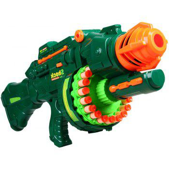 20 Repeating Machine Gun Plastic Airsoft Pistol Soft Bullet Boys Toy Outdoor CS Battle Game Gift Kids Toy - GREEN