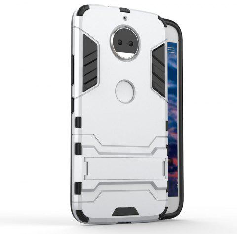 For Motorola Moto G5S Plus Cover Silicon Back Shockproof Protection Armor Case - SILVER