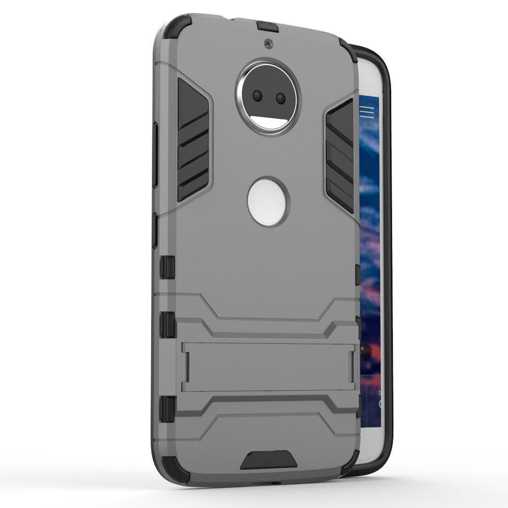 For Motorola Moto G5S Plus Cover Silicon Back Shockproof Protection Armor Case - GRAY