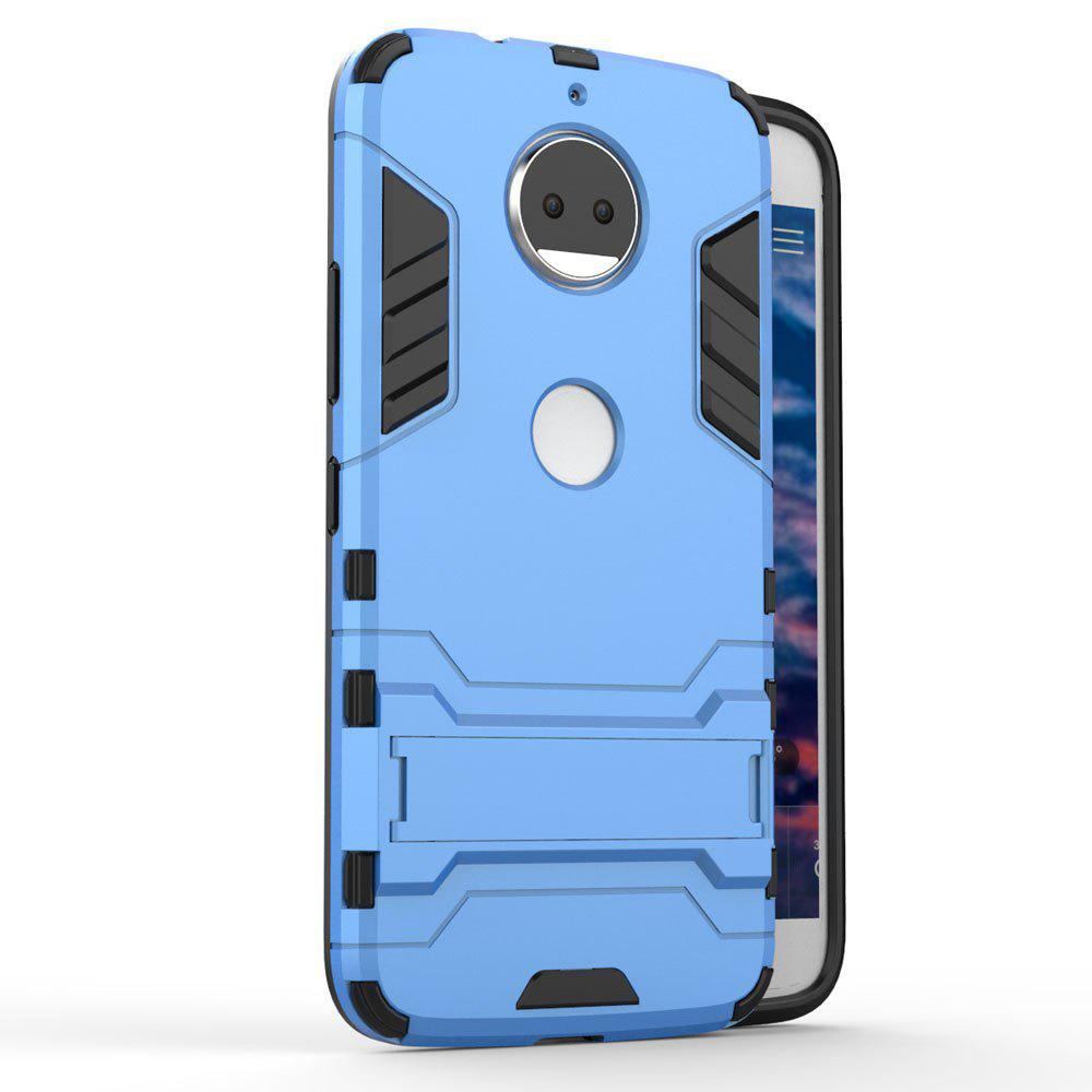 For Motorola Moto G5S Plus Cover Silicon Back Shockproof Protection Armor Case - BLUE