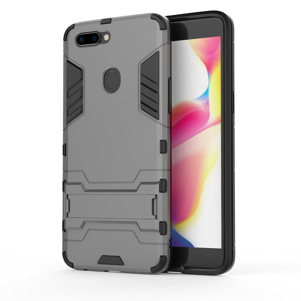 For Oppo R11S Plus Cover Silicon Back Shockproof Protection Armor Case - GRAY