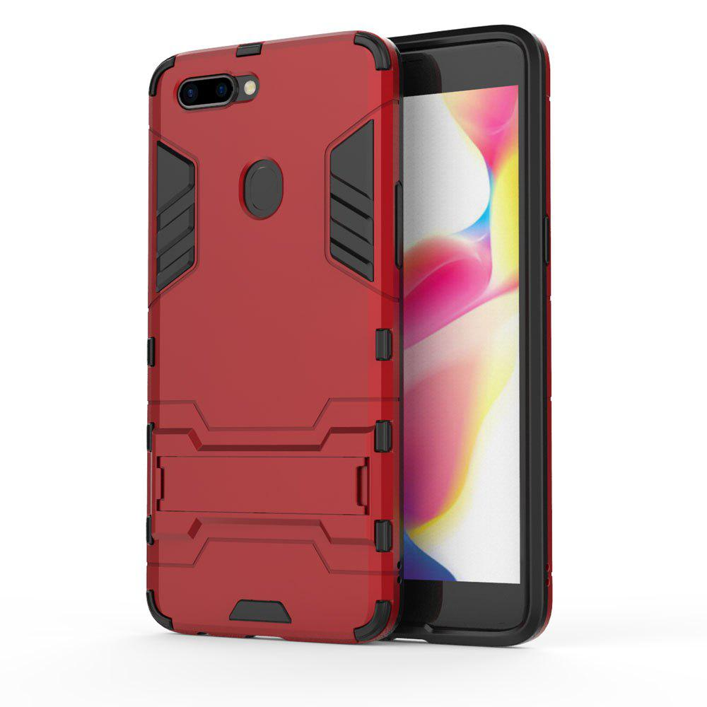 For Oppo R11S Plus Cover Silicon Back Shockproof Protection Armor Case - RED