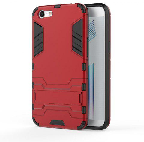 For OPPO A71 Cover Silicon Back Shockproof Protection Armor Case - RED