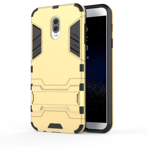 Armor Case For Samsung Galaxy C8 / J7 Plus Silicon Back Shockproof Protection Cover - GOLD