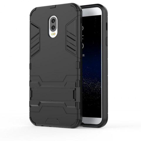 Armor Case For Samsung Galaxy C8 / J7 Plus Silicon Back Shockproof Protection Cover - BLACK