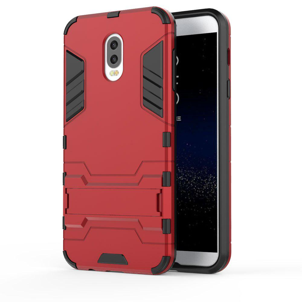 Armor Case For Samsung Galaxy C8 / J7 Plus Silicon Back Shockproof Protection Cover - RED