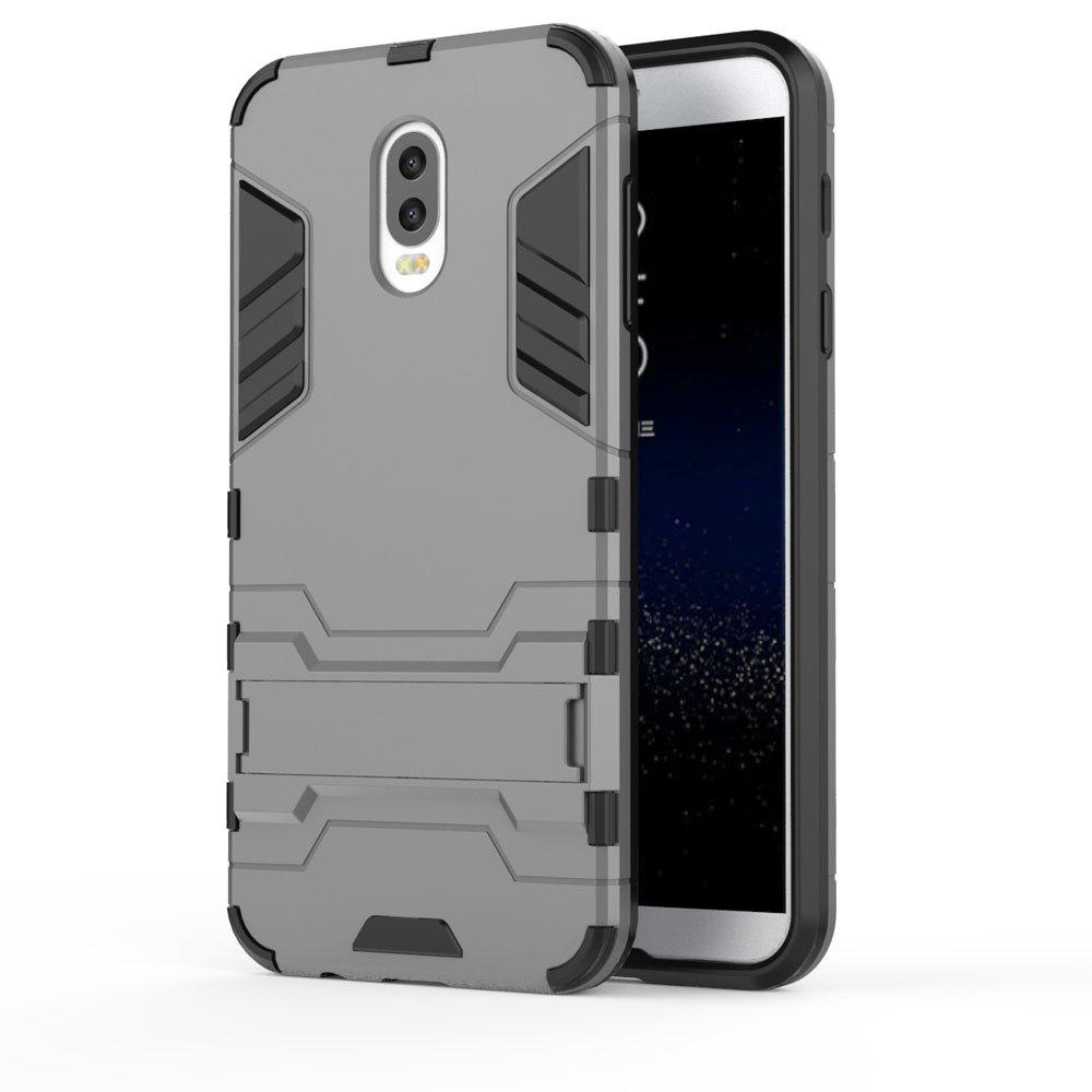 Armor Case For Samsung Galaxy C8 / J7 Plus Silicon Back Shockproof Protection Cover - GRAY