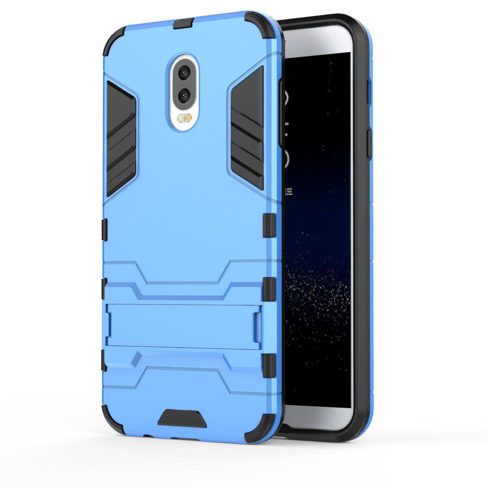 Armor Case For Samsung Galaxy C8 / J7 Plus Silicon Back Shockproof Protection Cover - BLUE