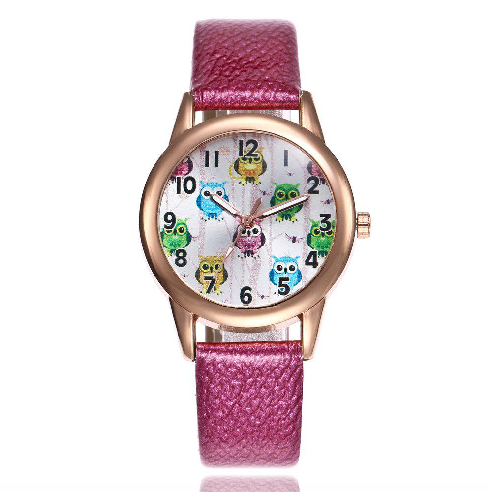Khorasan Owl Band Quartz Watch - DEEP PINK