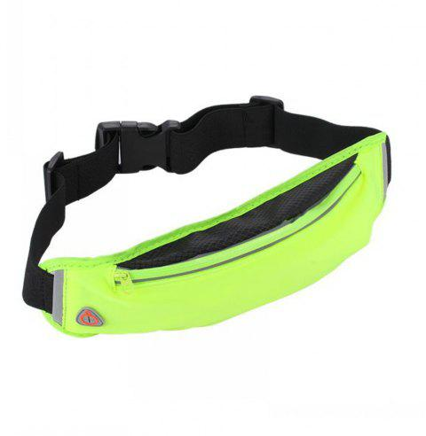 Fashionable Outdoor Travel Breathable Sports Waist Pack - YELLOW GREEN