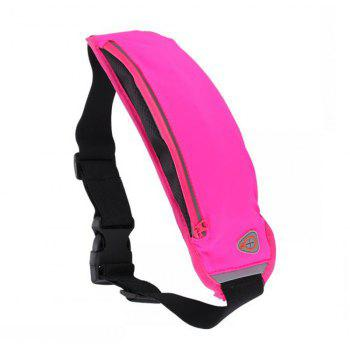 Fashionable Outdoor Travel Breathable Sports Waist Pack - DEEP PINK