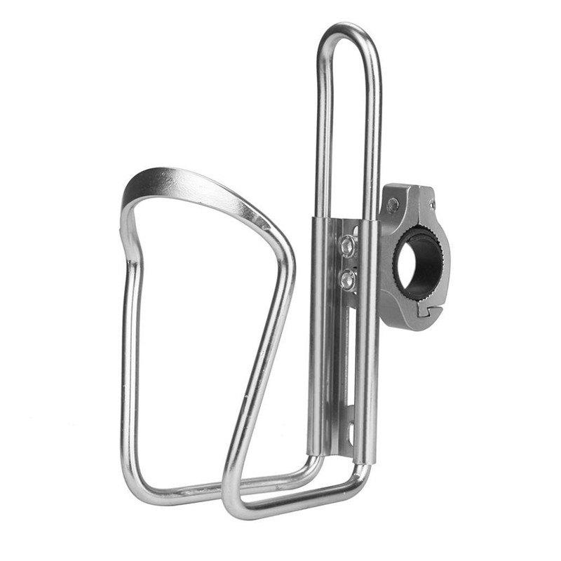 Water Bottle Cages Bicycle Alloy Aluminum Lightweight Holder Brackets - SILVER