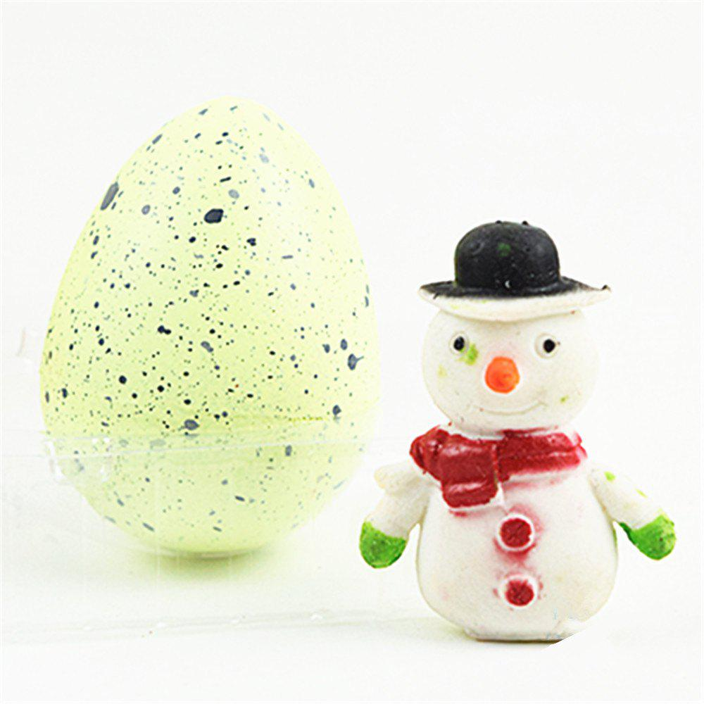 Christmas Egg Novelty Growing Water Hatching Magic Children Kids Toy - CREAM