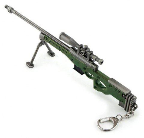Hot Game High Quality AWM Sniper Rifle Model Key Chain - SEAWEED GREEN