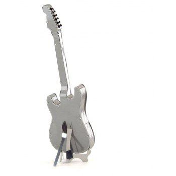 Creative Guitar A 3D Metal High-quality DIY Laser Cut Puzzles Jigsaw Model Toy - SILVER