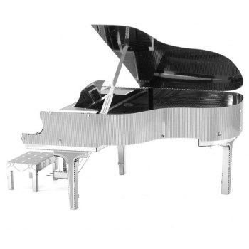 Creative Piano 3D Metal High-quality DIY Laser Cut Puzzles Jigsaw Model Toy - SILVER