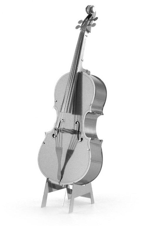 Creative Cello 3D Metal High-quality DIY Laser Cut Puzzles Jigsaw Model Toy - SILVER