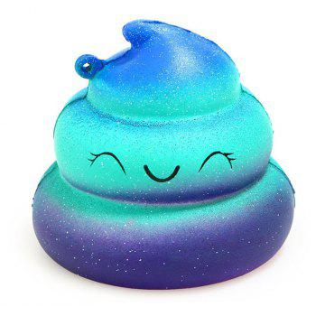 Jumbo Squishy Galaxy Whale and Starry Poop Emoji Stress Relief Soft Toy for Kids and Adults 2PCS - ROYAL BLUE