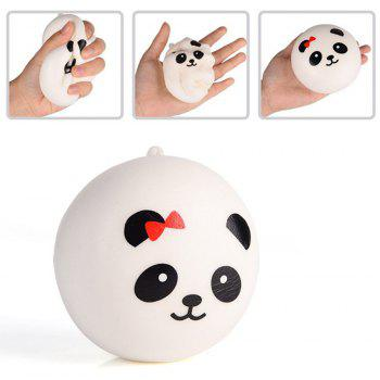 Jumbo Squishy Panda Bread Stress Relief Soft Toy for Kids and Adults 2PCS - WHITE