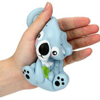 Jumbo Squishy PU Slow Rising Stress Rebound Toy Replica Cute Little Raccoon for Adults - BLUE GRAY