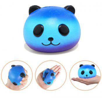 Slow Rising Jumbo Squishy Kawaii Bouteille et Panda peluche 2PCS - multicolor