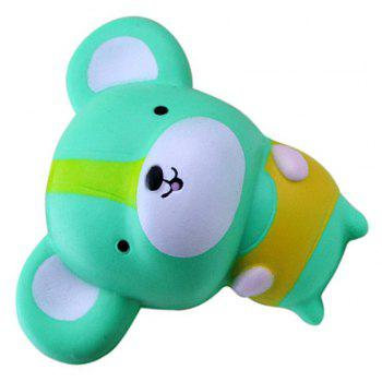 Jumbo Squishy Slow Rising Kawaii Cute Cartoon Mouse Toys - BLUE GREEN