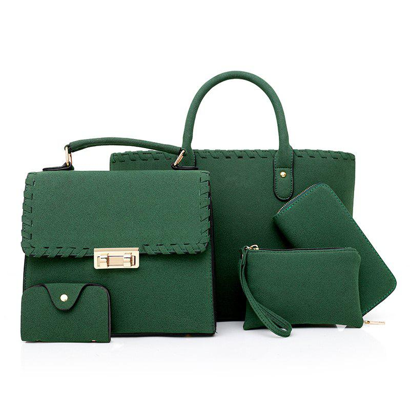 The New Trendy Korean Version of Woven Wide-mesh Messenger Bag Shoulder Diagonal Package - MEDIUM SEA GREEN