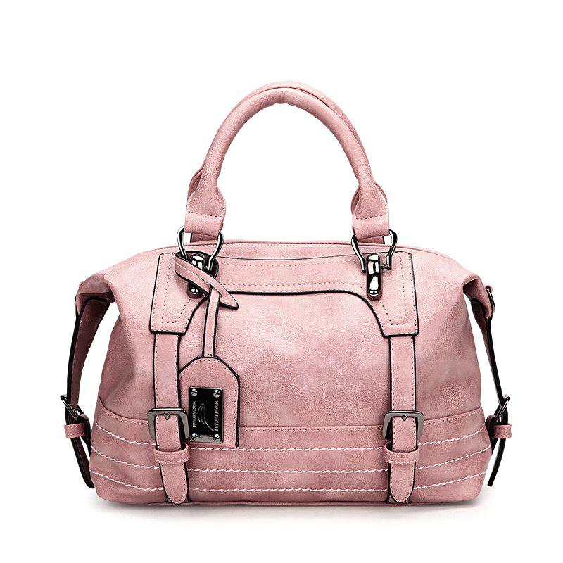 Boston Lady Portable Large-capacity Shoulder Messenger Bag - PIG PINK
