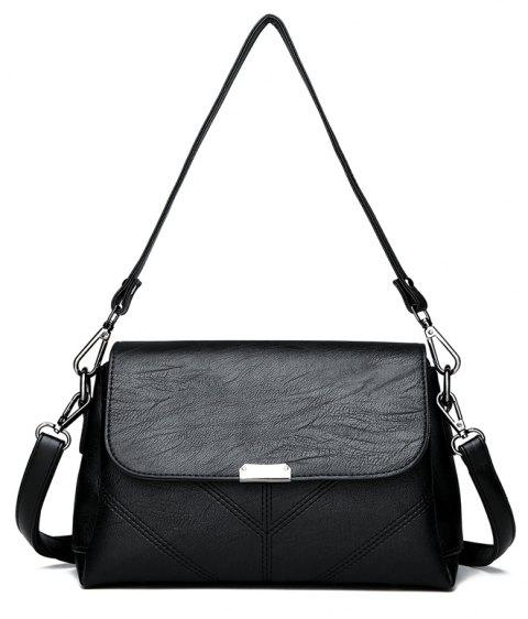 Middle-aged Female Casual Fashion Wild Cross-shoulder Messenger Bag - BLACK