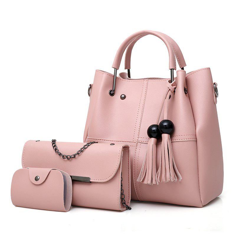 Messenger Bag Daughter Épaule Simple Fringe Seau - Rose Cochon