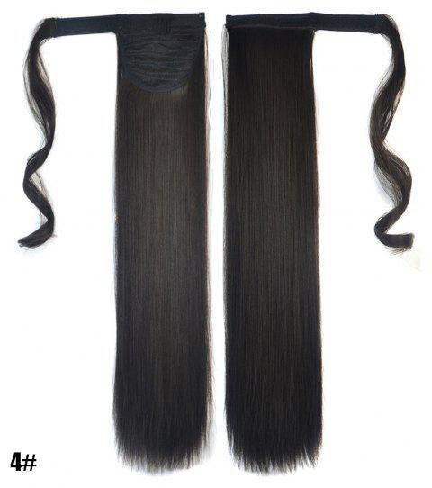 Long Straight Clip in Hair Ponytail Hairpiece with Magic Wrap Around - 004