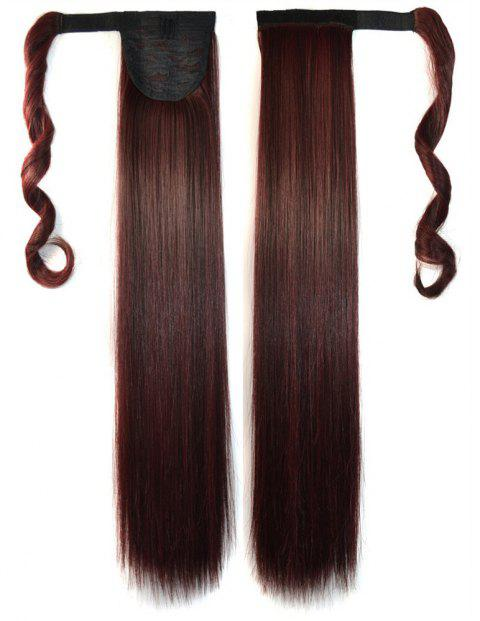 Long Straight Clip in Hair Ponytail Hairpiece with Magic Wrap Around - 011
