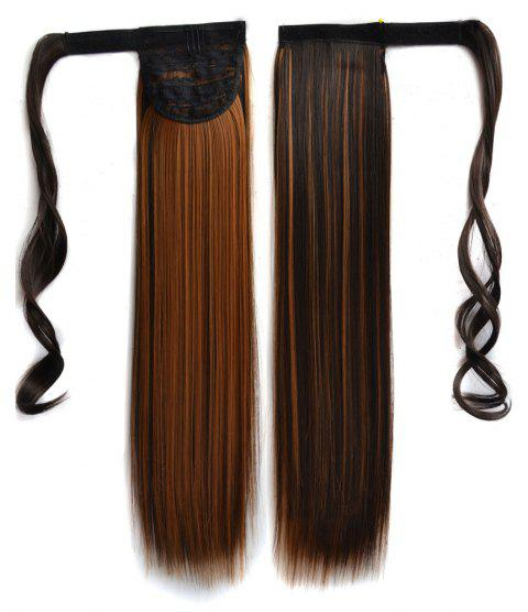 Long Straight Clip in Hair Ponytail Hairpiece with Magic Wrap Around - 013