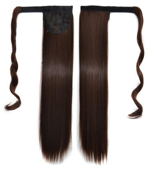 Long Straight Clip in Hair Ponytail Hairpiece with Magic Wrap Around - 029