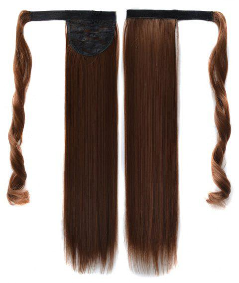 Long Straight Clip in Hair Ponytail Hairpiece with Magic Wrap Around - 045