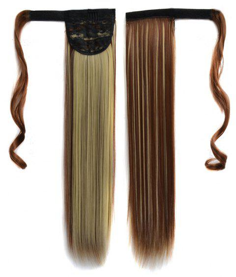Long Straight Clip in Hair Ponytail Hairpiece with Magic Wrap Around - 035