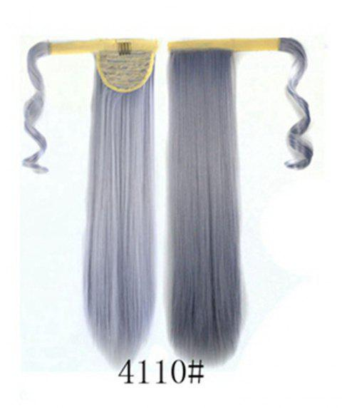 Long Straight Clip in Hair Ponytail Hairpiece with Magic Wrap Around - 046