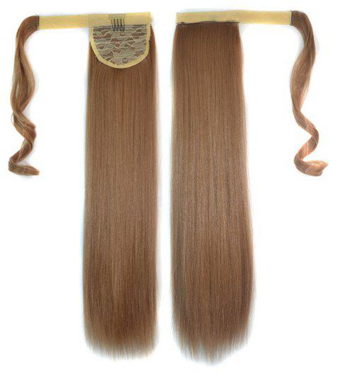 Long Straight Clip in Hair Ponytail Hairpiece with Magic Wrap Around - 033